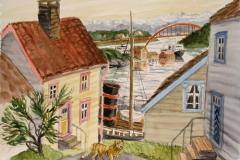 Stavanger-minne III Akvarell (29,5x41 cm) kr 7000 ur