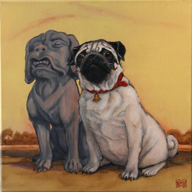 His big friend Oljemaleri 40x40 cm 4000 ur