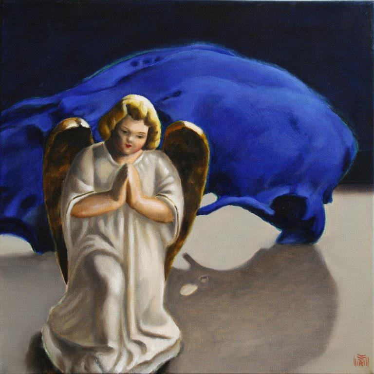 Little Angel Oljemaleri 40x40 cm 5000 ur