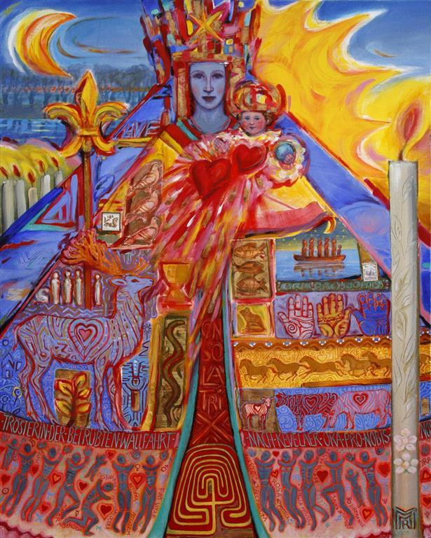 The Pilgrimage Acrylcolour, blattgold 100x80 cm 23000 ur