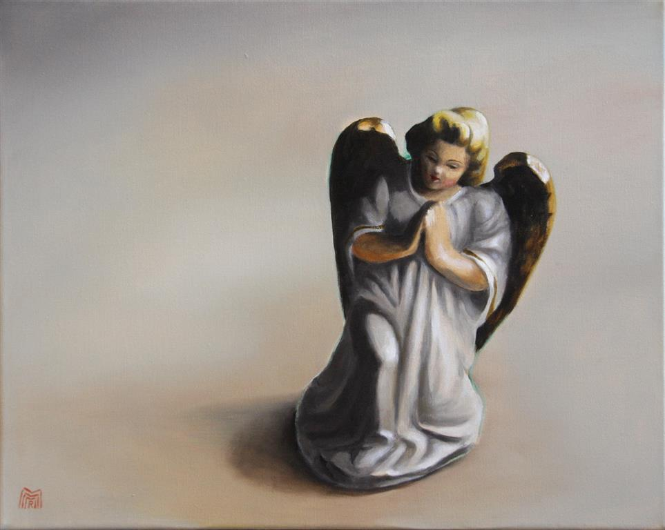 The lonely Angel Oljemaleri 40x50 cm 5000 ur
