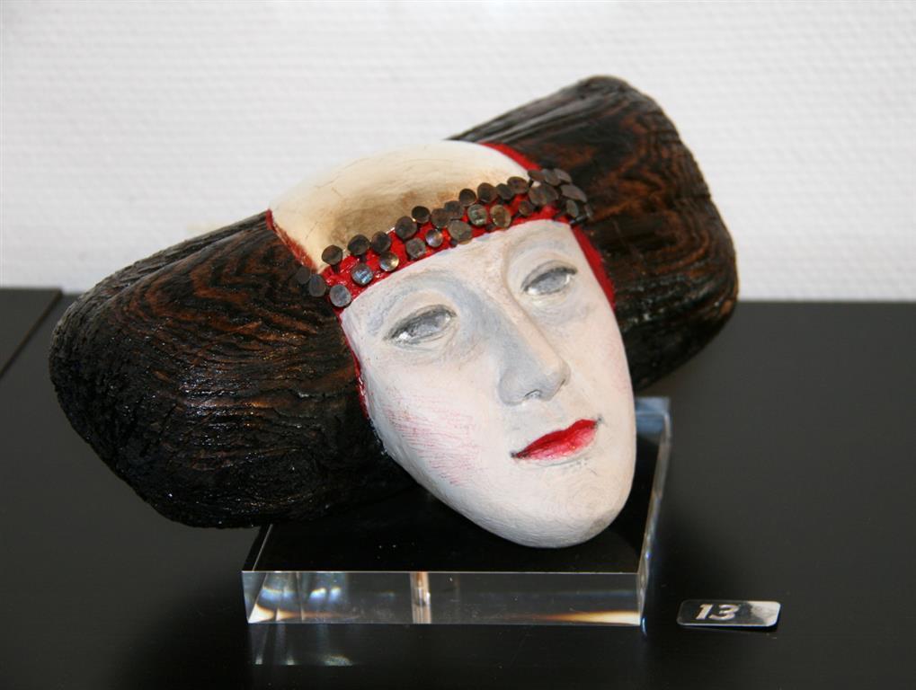 Wasserfrau from Rhinen Driftwood, keramikk, nagler, whitegold, acryl 10000