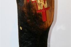 Crown of Iron Driftwood, iron, colour, blattgold, akrylsokkel 8000