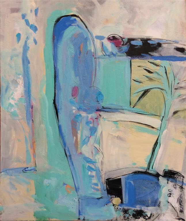 Abstraksjon Akrylmaleri (60x50 cm) kr 6200 ur
