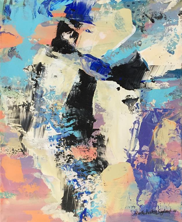 Abstraksjon I Akrylmaleri (50x40 cm) kr 5900 ur