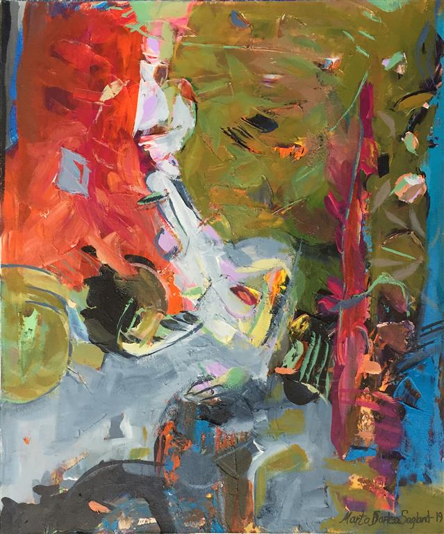 Abstraksjon III Akrylmaleri (60x50 cm) kr 6100 ur