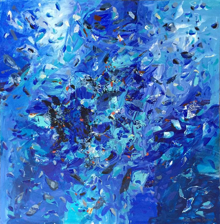 Himlajord 19 Akryl, olje (100x100 cm) kr 22000 ur