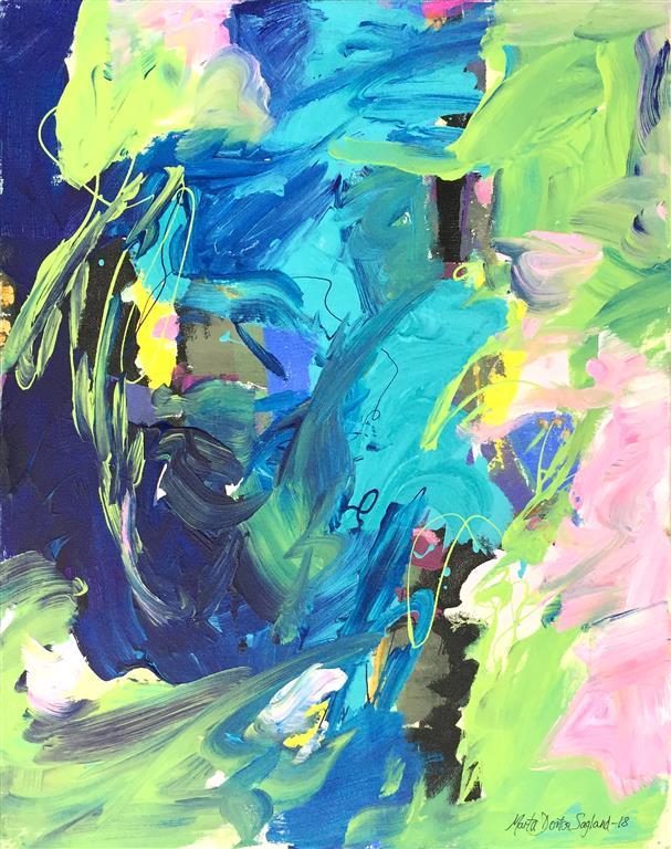 Kraft 19 Akrylmaleri (60x50 cm) kr 6100 ur