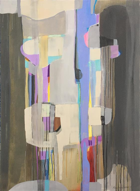 Lyrisk abstraksjon 15 Akrylmaleri (120x90 cm) kr 18000 ur