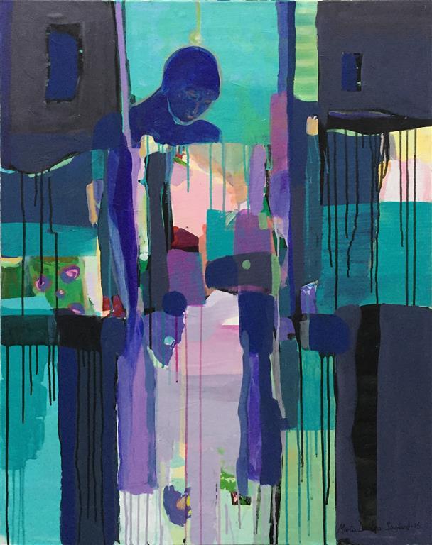 Lys og mørke Akrylmaleri (100x80 cm) kr 15000 ur