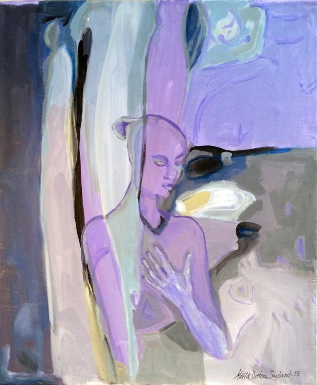 Sårbar Akrylmaleri (60x50 cm) kr 6500 ur