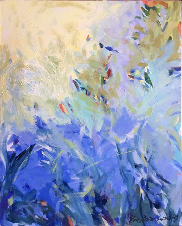 Ut i min hage Akrylmaleri (60x50 cm) kr 6200 ur
