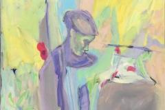 Å vera i livet 15 Akrylmaleri (60x50 cm) kr 6500 ur