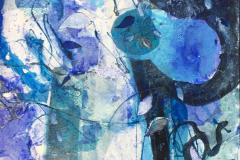 Abstraksjon - 21 Mixed media (70x50 cm) kr 7000 ur