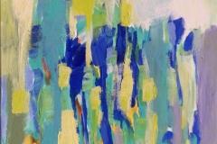 Abstraksjon Akrylmaleri (60x50 cm) kr 6100 ur