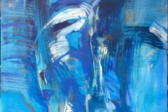 Bevegelse Akrylmaleri (120x100 cm) kr 18000 ur