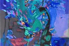 Ekspresjon 19 Akrylmaleri (60x50 cm) kr 6100 ur