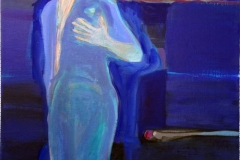 Hjerteslag Akrylmaleri (60x50 cm) kr 6500 ur