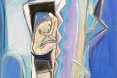 Hold meg Akrylmaleri (60x50 cm) kr 6500 ur