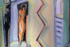 Kom ut kom fram Akrylmaleri (60x50 cm) kr 6500 ur