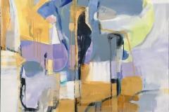 Lyrisk abstraksjon 14 Akrylmaleri (100x100 cm) kr 22000 ur