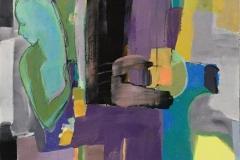Lyrisk abstraksjon II Akrylmaleri (100x80 cm) kr 15000 ur