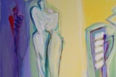 Lys og varme Akrylmaleri (60x50 cm) kr 6000 ur