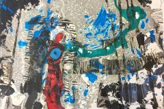 Vandring - 21 Mixed media (35x50 cm) kr 5000 ur