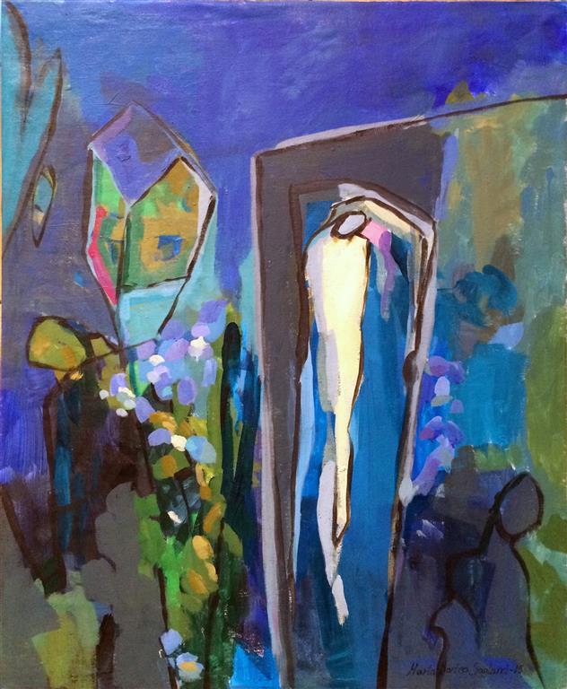 Har en drom Akrylmaleri 60x50 cm kr 7000 ur