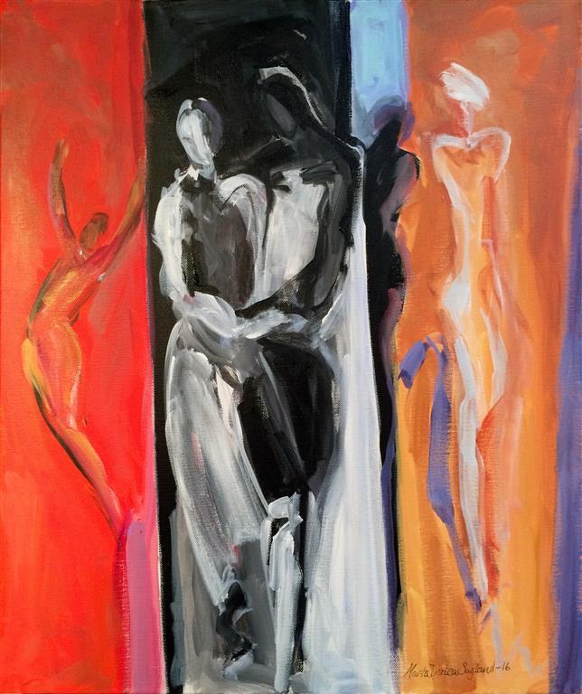 Samme rytme Akrylmaleri 60x50 cm kr 6000 ur