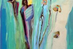 Det varast Akrylmaleri 60x50 cm kr 6500 ur