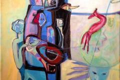 Fabel Akrylmaleri 60x50 cm kr 7000 ur