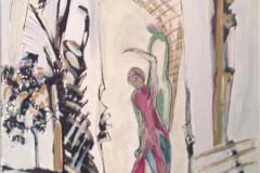Flamenco Akrylmaleri 60x50 cm kr 6500 ur
