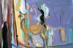 Gjertrud pa tur Akrylmaleri 60x50 cm kr 6500 ur