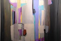 Lyrisk abstraksjon I Akrylmaleri 120x90 cm kr 15000 ur