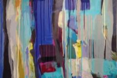 Lyrisk abstraksjon III Akrylmaleri 100x80 cm kr 14000 ur