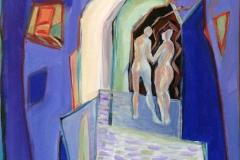 Vandre saman Akrylmaleri 60x50 cm kr 7000 ur