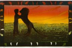 Loevebilde Linosnitt 35x55 cm 3700 mr