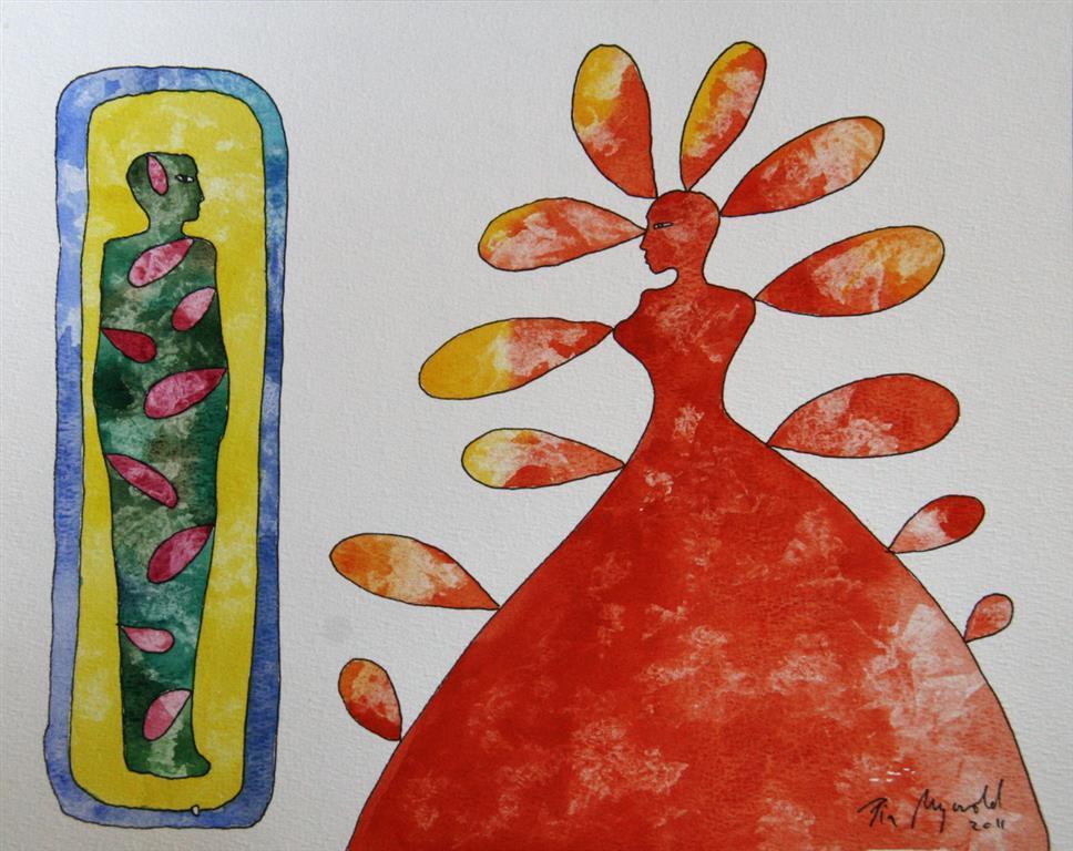 Biomyth pair I Akvarell (23x30 cm) kr 5000 ur