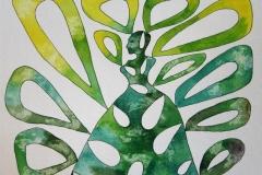Biomyth lady green Akvarell (23x30 cm) kr 5000 ur