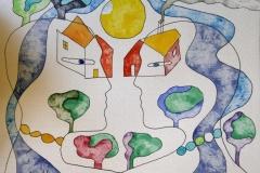 Home sweet home III Akvarell (23x30 cm) kr 5000 ur
