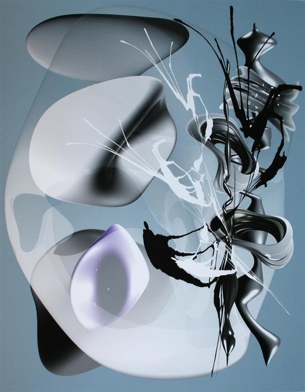 Flow Membrance, ice Digigrafikk (75x58 cm) kr 7500 ur