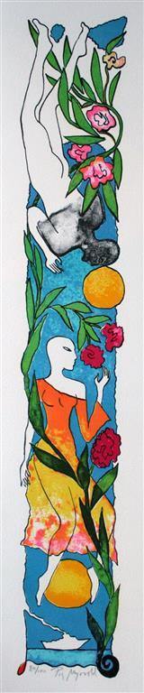 Blue Parfume Litografi (55x10 cm) kr 3000 ur