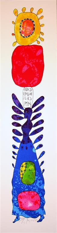 Skrift I Litografi (55x10 cm) kr 3000 ur