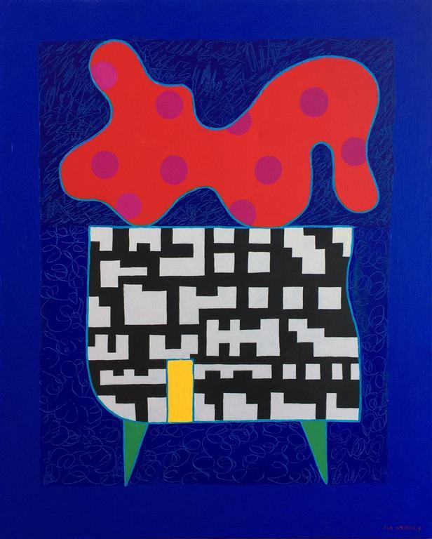 På bordet Akrylmaleri (101x81 cm) kr 38000 ur