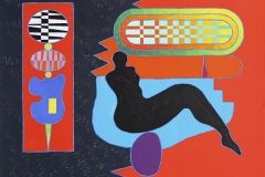 Venus in Open Networks I Akrylmaleri (89x116 cm) kr 42000 ur