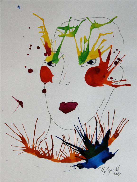 Face III Tegning og blekk (32x24 cm) kr 5000 ur