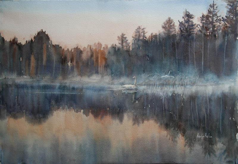 Aspen Akvarell 38,5x51cm 4500,-u.r.