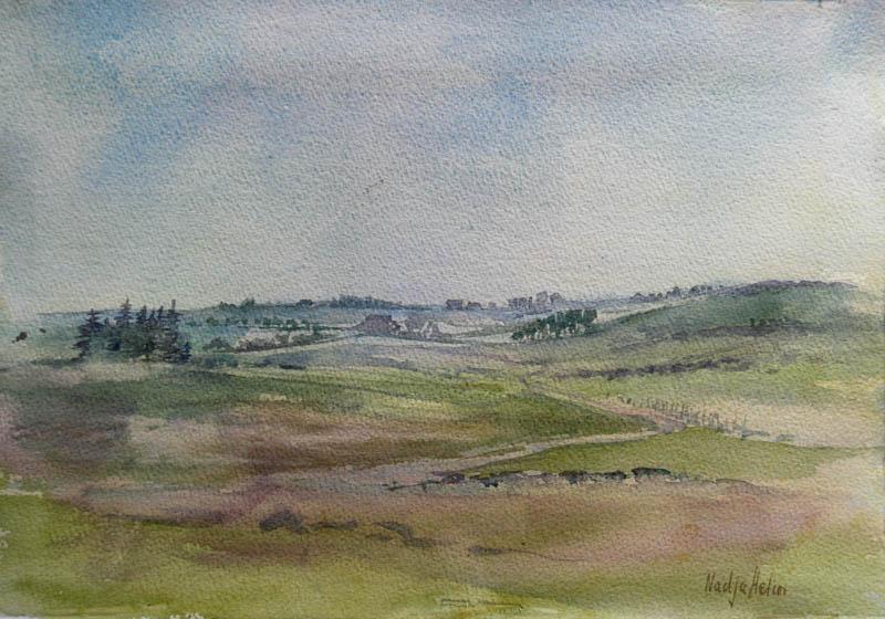 Fra Jaermuseet II Akvarell 27x38cm 3000,-u.r