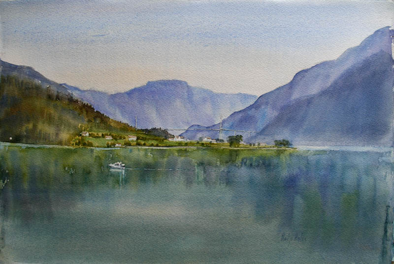 Oanes Akvarell 38x57cm 6000,-u.r